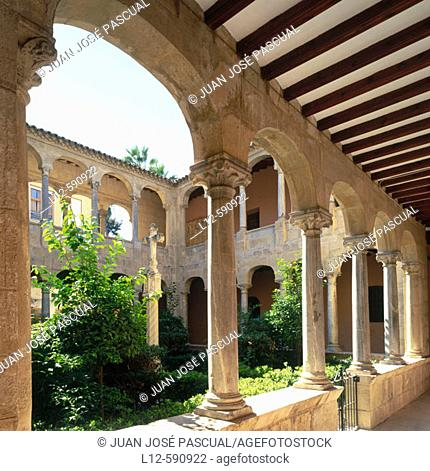 Cloister attached to Orihuela's Cathedral. Castellon province. Comunidad Valenciana, Spain