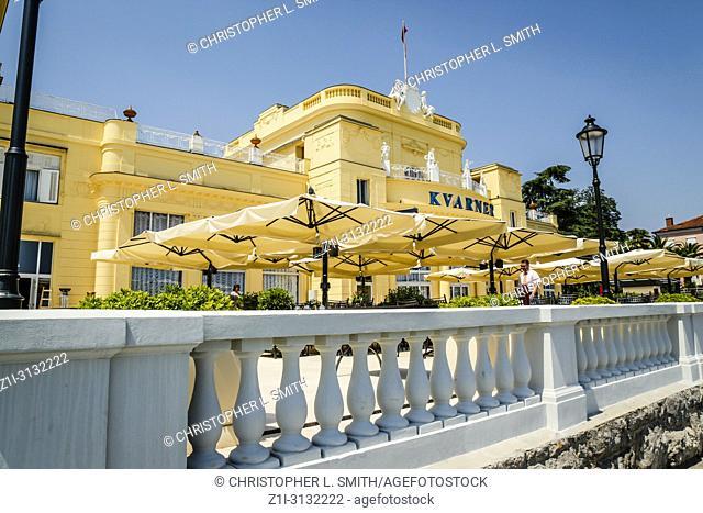 The Hotel Kvarer in Opatija on the Adriatic Croatian Riviera