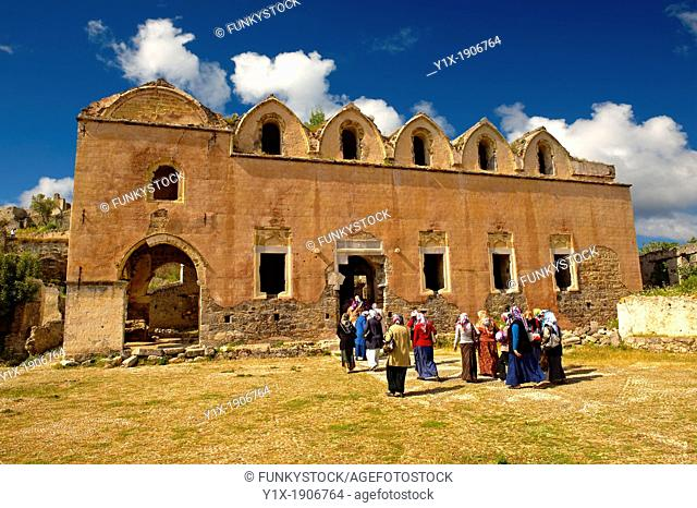 Interior of the 17th cent  Orthodox High Church of Kayaköy Kayakoy or Karmylassos, an abandoned Greek Village 8km from Fethiye in Turkey whose inhabitants left...