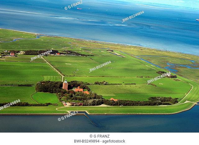 lighthouse of Neuwerk island, Germany, Hamburgisches Wattenmeer National Park