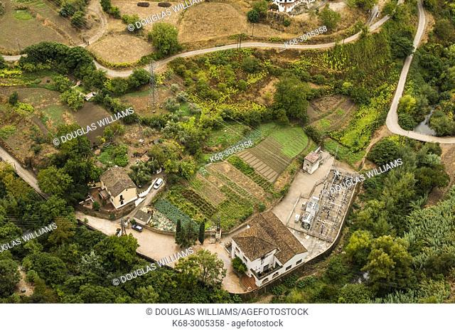 Farmlands outside Ronda, Malaga province, Andalucia, Spain