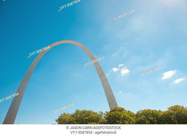 Arch of St. Louis in Missouri, America. St. Louis is a city located in the middle of USA