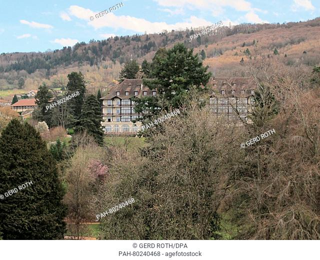 View of the four-star hotel Ermitage in Evian-les-Bains, France, 30 March 2016. The German Football Association (DFB) has picked the quiet town on the French...