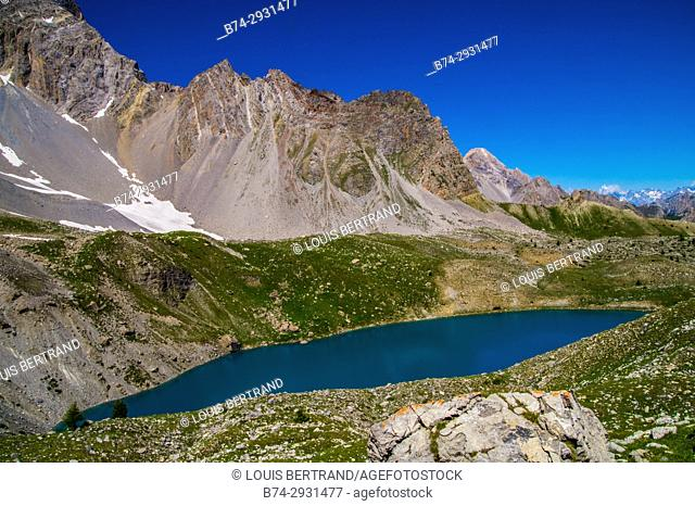 lake sainte anne qeyras in hautes alpes in france