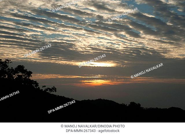 Sunset from Penang Hill, Penang, Malaysia, Asia