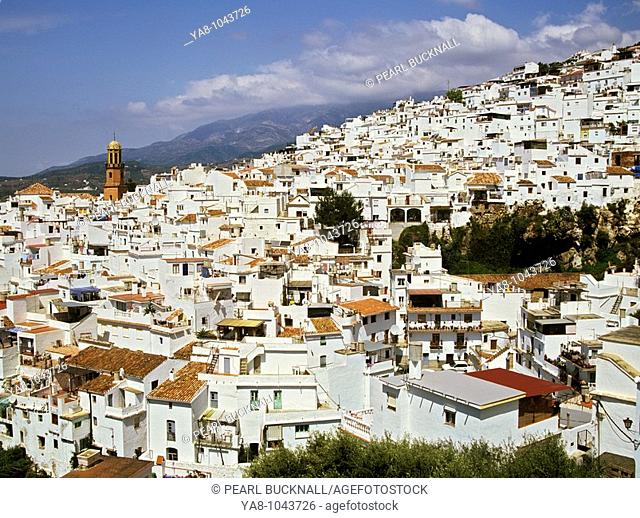 Competa, Malaga, Spain, Europe  WHITE MOUNTAIN VILLAGE in the Sierra Almijara foothills