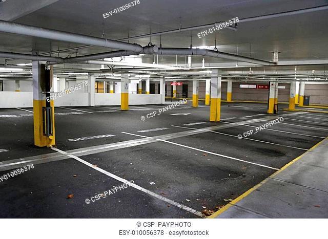 Empty underground parking background