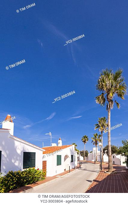 The small village of Biniancolla-Punta Prima , Menorca , Balearic Islands , Spain