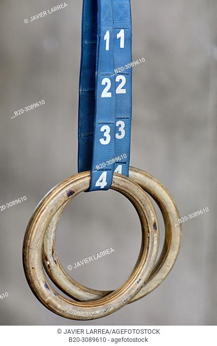 rings, Fitness center, Gym, Donostia, San Sebastian, Gipuzkoa, Basque Country, Spain, Europe