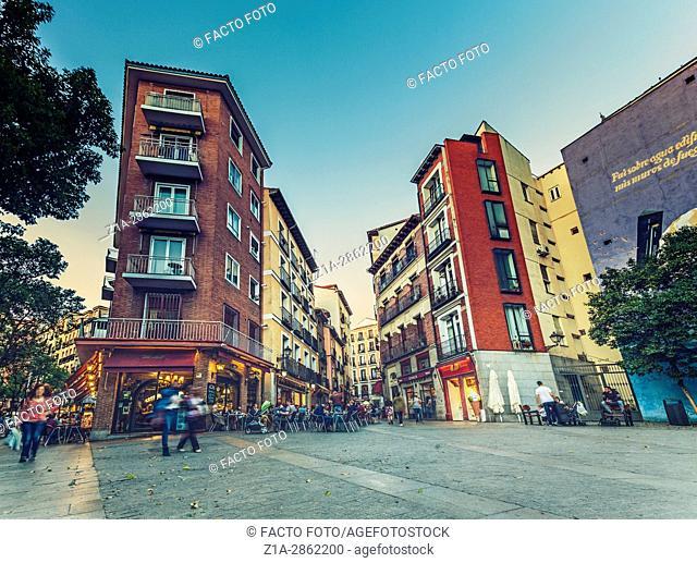 Puerta Cerrada square. Madrid, Spain