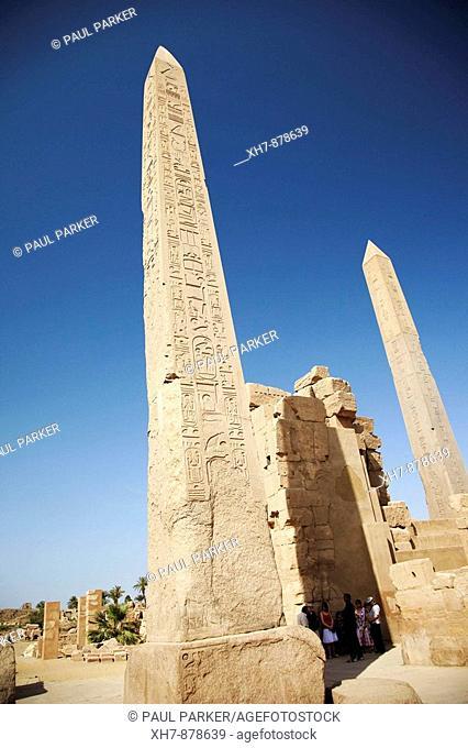 Obelisk in Karnak Temple of the God Amon, Luxor, Egypt