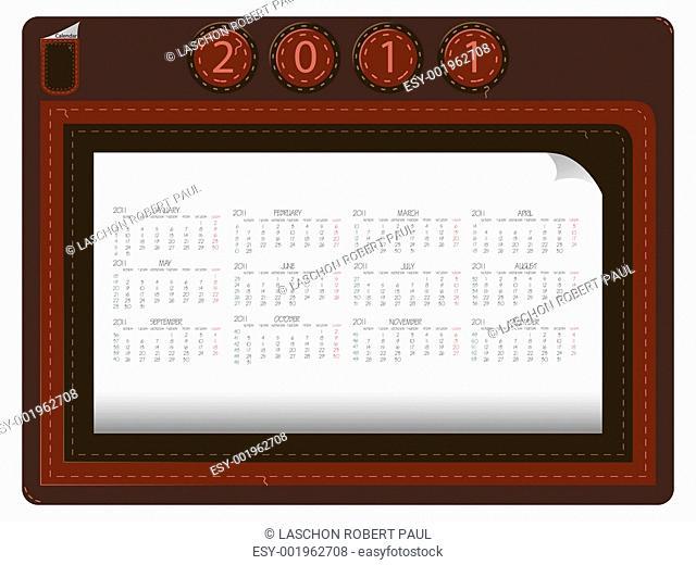 leather calendar 2011