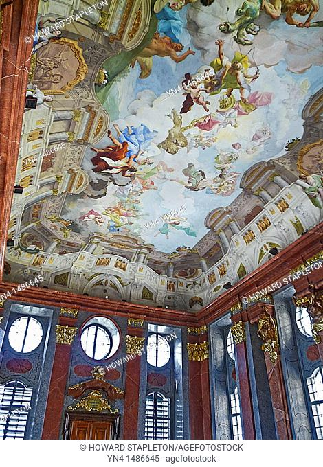 Painted ceiling in the Abbey at Melk, Austria