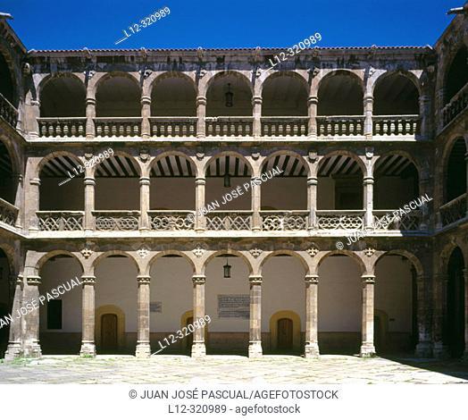 Cloister of Colegio de Santa Cruz (construction began at the end of 15th century), Renaissance architecture. Valladolid. Spain