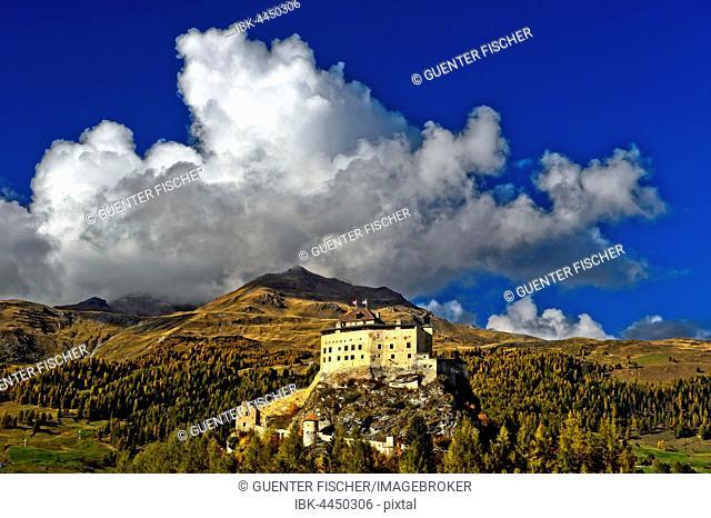 Tarasp Castle, Scuol, Lower Engadine, Grisons, Switzerland