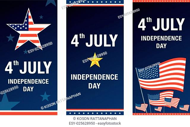 independence day 4 th july. happy independence day. vector illustration