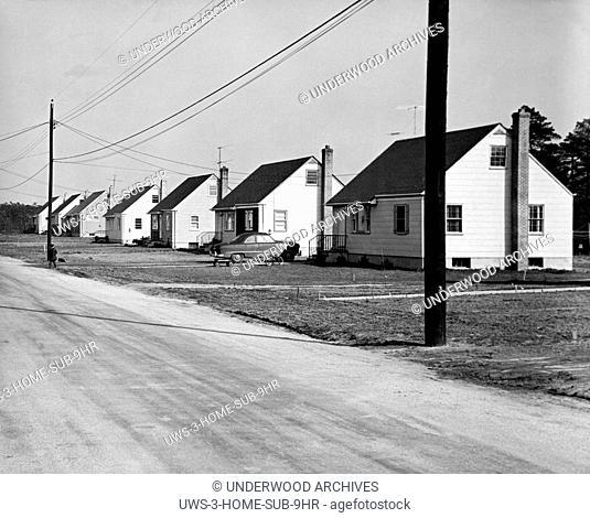 United States: c. 1946. .A post World War II Housing development