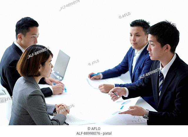 Young Japanese businesspeople