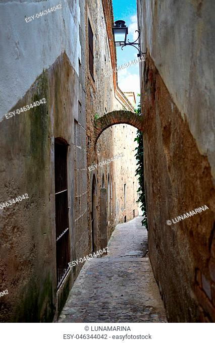 Caceres monumental city in Extremadura of spain