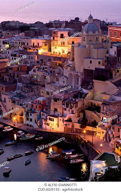 Corricella, Procida Island, Campania, Italy, Europe