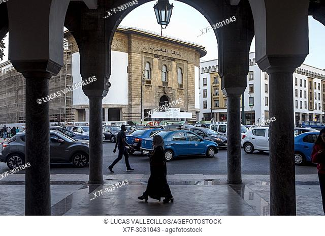 Bank Al Maghrib building, Mohammed V avenue, Rabat. Morocco