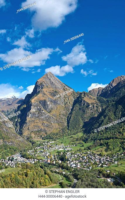 Switzerland , Ticino Tessin, Val du Blenio Olivone