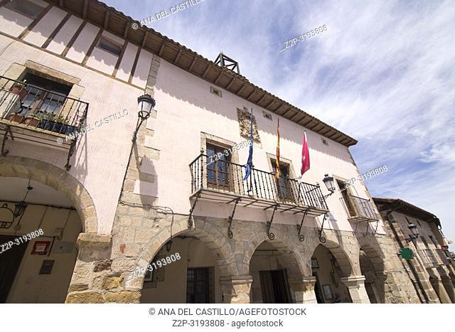 Route of Cid and Don Quixote, Atienza village in Guadalajara, province, Castilla-La Mancha, Spain. The city hall