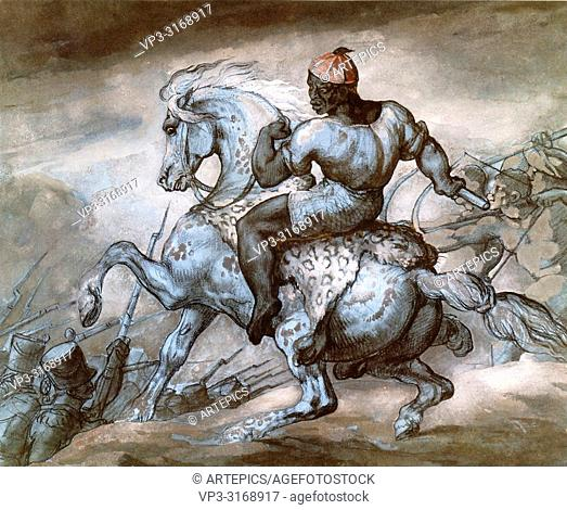 Gericault Théodore - Episode from the Colonial War - Black Man and His Prancing Horse