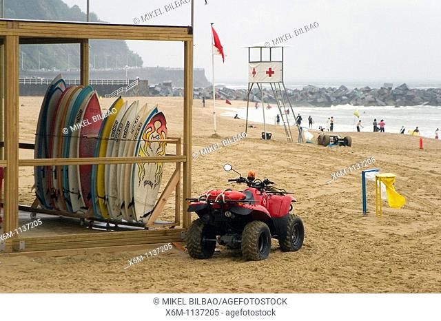 Zurriola beach  San Sebastian, Guipuzcoa, Basque Country, Spain, Europe