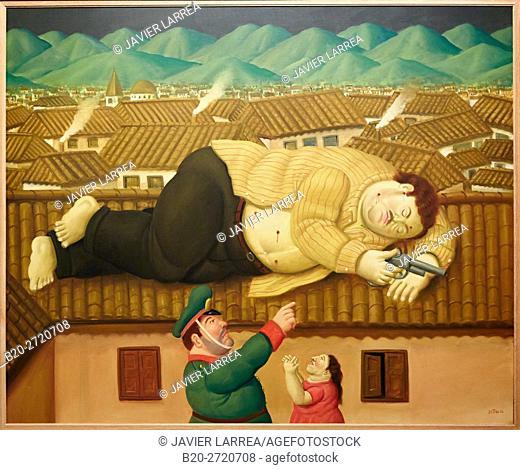 """Pablo Escobar Dead"", 2006, Fernando Botero, Museo de Antioquia, Medellin, Antioquia, Colombia"