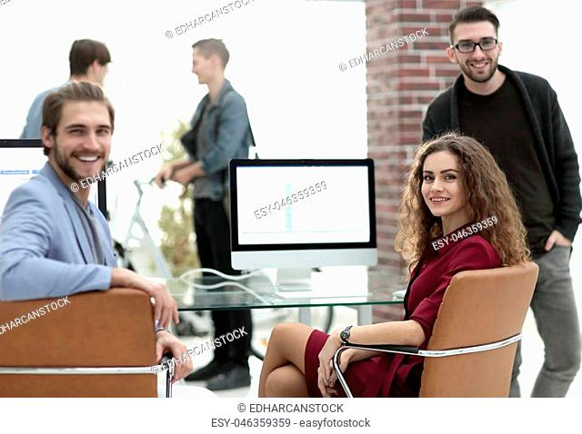 creative business team in a workplace in the office.success concept