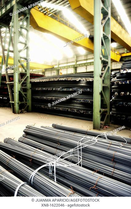 Iron rods ready for shipping