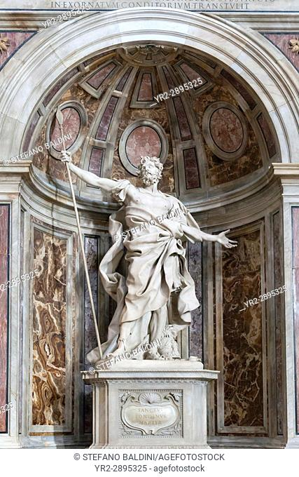 Statue of Saint Longinus at Saint Peter Cathedral, Vatican City, Italy