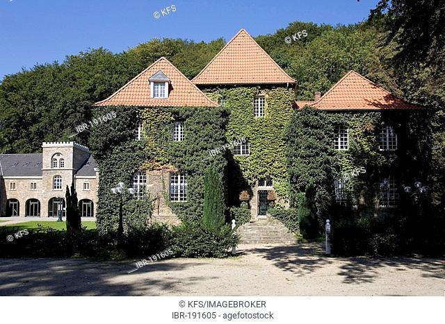 Castle Baldeney former moated castle at the Baldeney Sea, Essen, NRW, Germany
