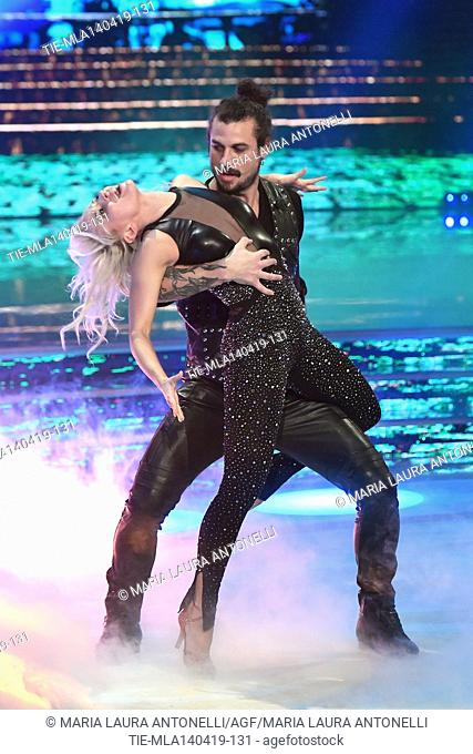 Dani Osvaldo during the performance at the talent show ' Ballando con le stelle ' (Dancing with the stars) Rome, ITALY-14-04-2019