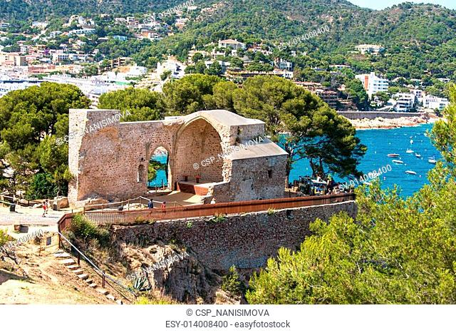 Theater in fortress at Tossa de Mar Spain