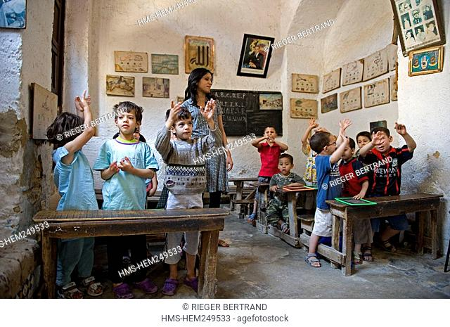 Morocco, Middle Atlas, Fez, Imperial City, Fez El Bali, medina listed as World Heritage by UNESCO, Andalusian District, primary school