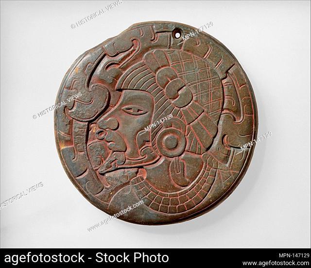 Mirror Back. Date: 7th-10th century; Geography: Mexico, Mesoamerica, Veracruz; Culture: Veracruz; Medium: Slate; Dimensions: Overall: 6 in. (15