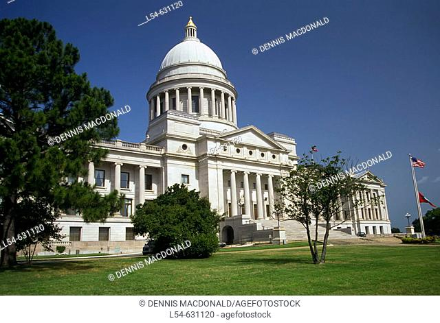The State Capitol Building in Little Rock Arkansas. USA