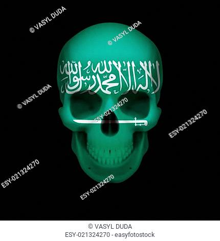 Saudi Arabian flag skull
