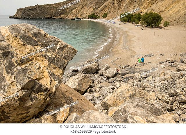 Sweetwater Beach on the trail from Chora Sfakion to Loutro on the south coast of Crete, Greece
