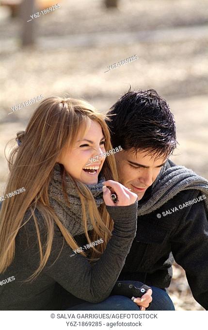 Loving couple having fun