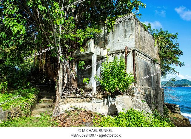 Historic sugarcane factory, Speyside, Tobago, Trinidad and Tobago, Caribbean
