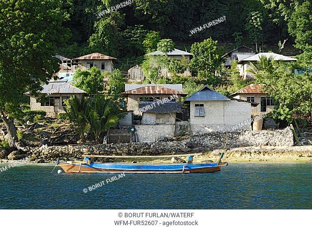 Village on Pantar Island, Alor Archipelago, Lesser Sunda Islands, Indonesia