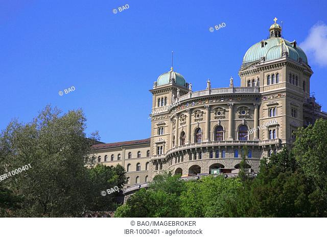 Parliament Building in the Federal Palace in Berne, Switzerland, Europe