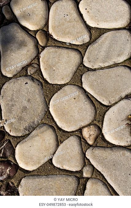 Background full of little rocks of the same type