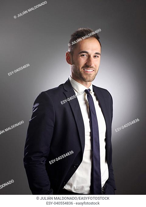 Businessman with positive and friendly expression
