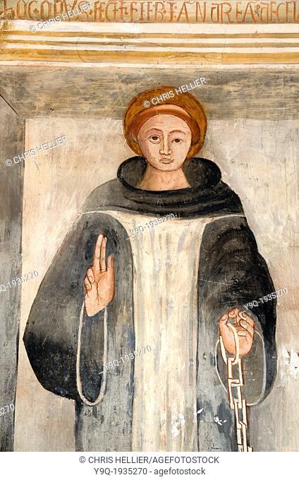 Saint Bernard of Menthon (1510) Fresco by Andrea de Cella Chapel of Saint Bernard & Saint Sébastien Roure Alpes-Maritimes France