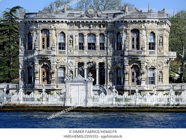 Turkey, Istanbul, palace of Küçksu, baroque style, on the Asian bank of the Strait of the Bosphorus