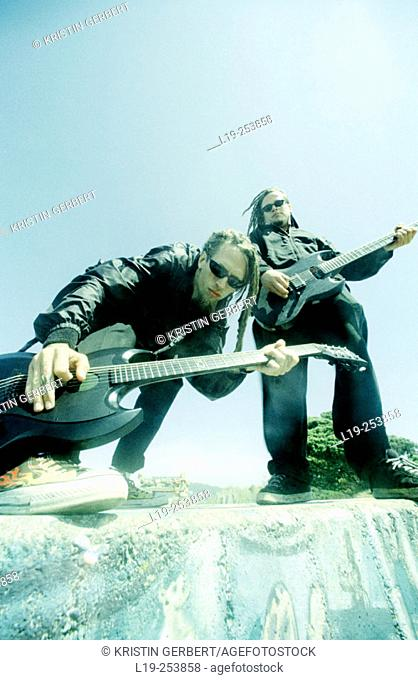 Musicians playing guitar